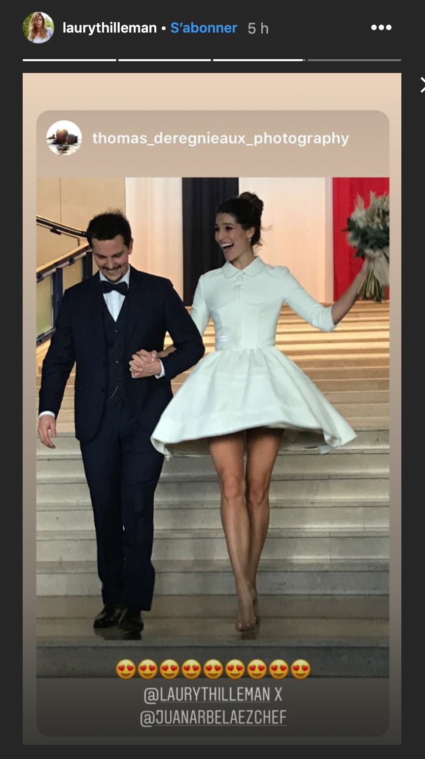 Laury Thilleman a épousé son amour de chef, Juan Arbelaez !