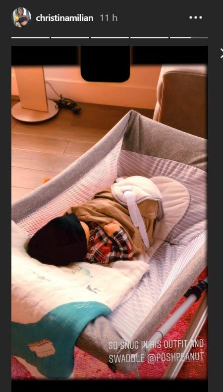 Le fils de Matt Pokora et Christina Milian dort paisiblement