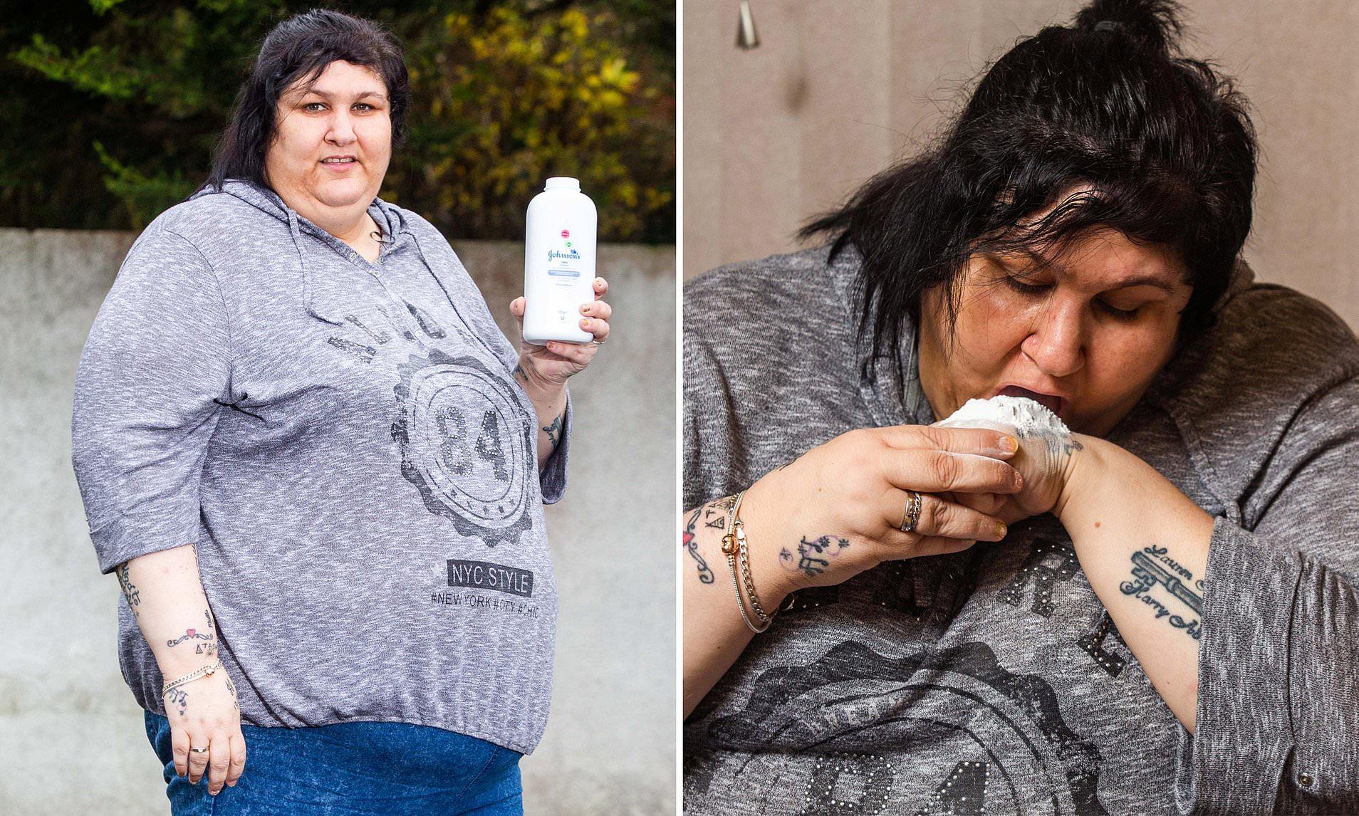 Atteinte du syndrome de Pica, cette femme est accro au talc