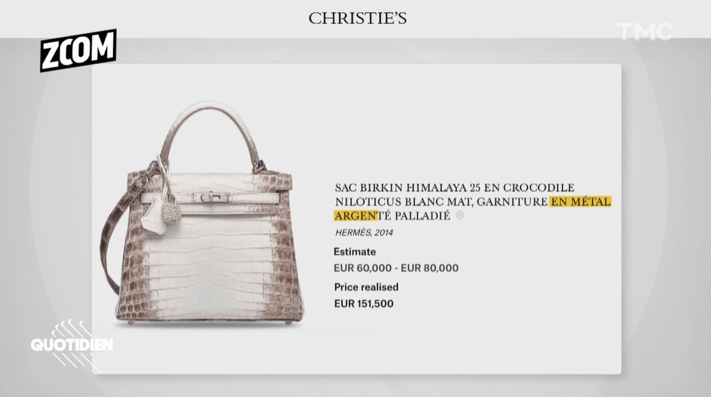 Les sac Hermès de Nabilla est estimé entre 60 000 et 80 000 euros