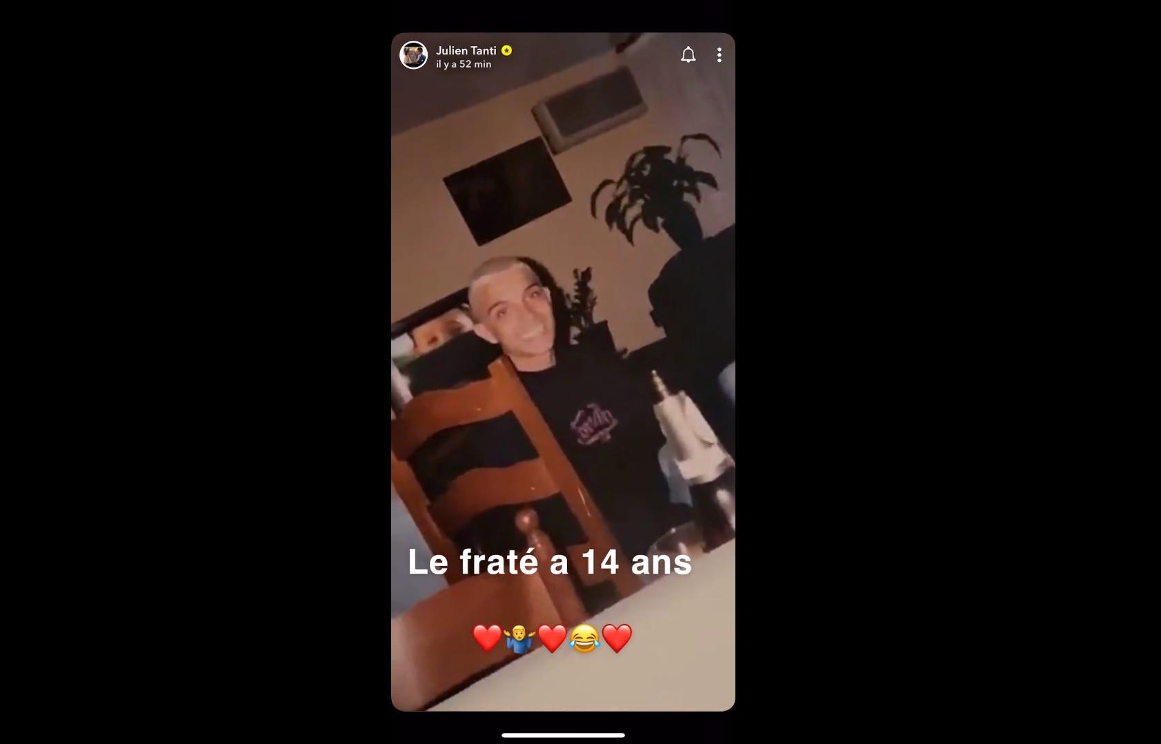 Julien Tanti (LMAC) dévoile une photo de lui lorsqu'il avait 14 ans !