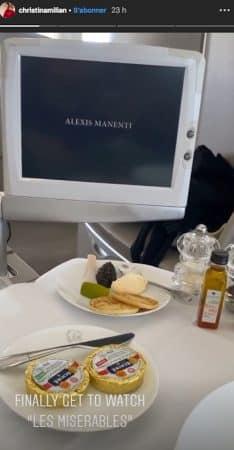 Christina Milian dans l'avion pour les Etats-Unis