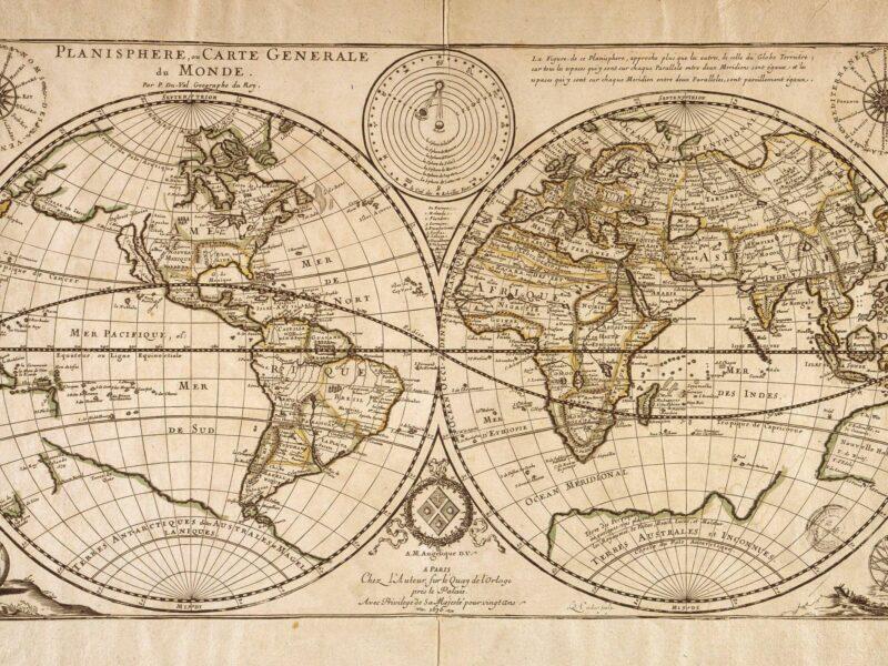 Une incroyable carte du monde de1922 fait le buzz