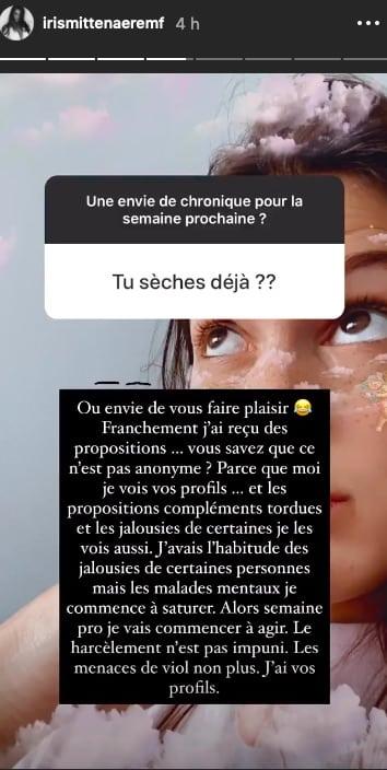 outree-iris-mittenaere-publie-les-messages-pornographiques-qu-elle-recoit-regulierement