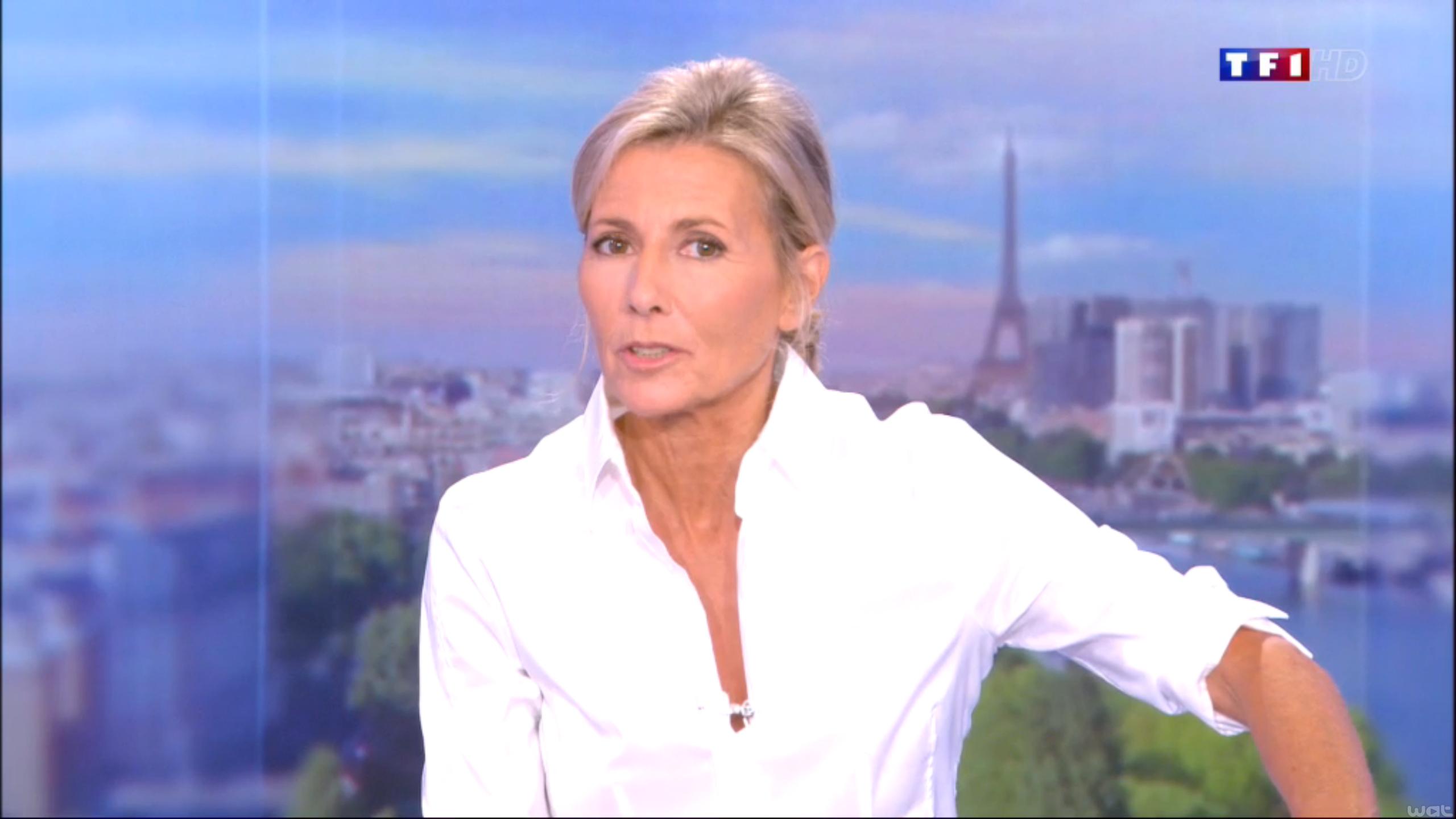 Claire Chazal, ancienne présentatrice du JT de TF1, a été victime d'un cambriolage @TF1