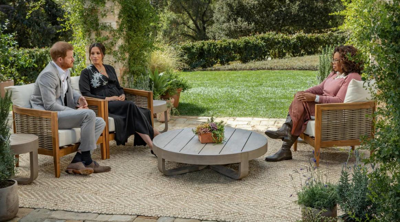 Meghan Markle, le prince Harry et Oprah Winfrey