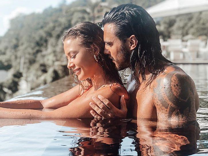 Alix Desmoineaux lorsqu'elle était avec Benjamin Samat @Instagram